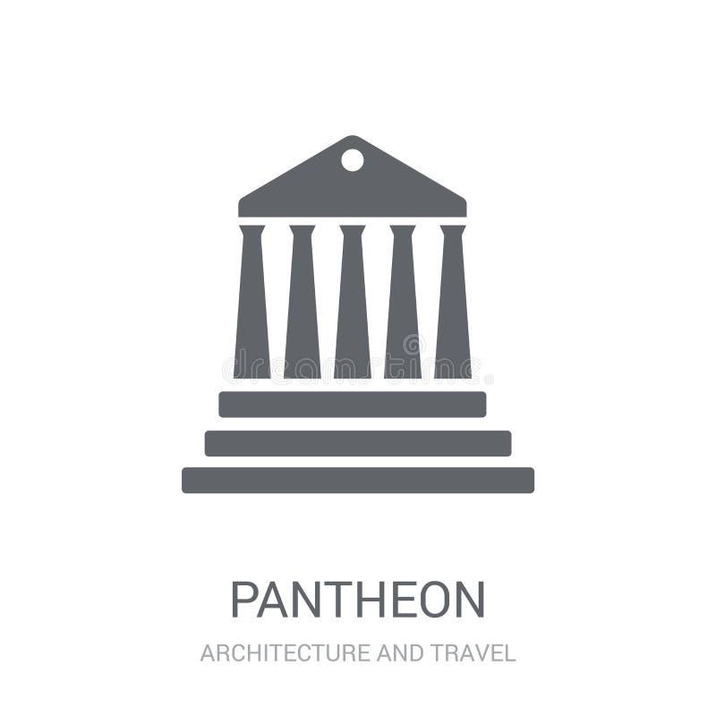 Pantheonpictogram  stock illustratie