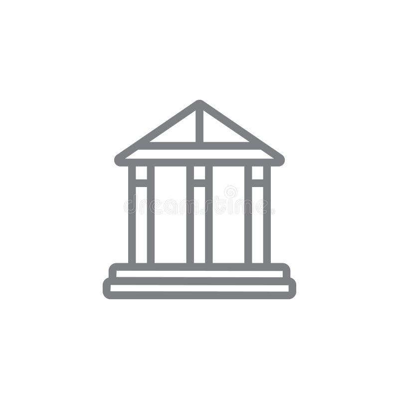 Pantheonpictogram Element van myphologypictogram Dun lijnpictogram voor websiteontwerp en ontwikkeling, app ontwikkeling Het pict royalty-vrije illustratie