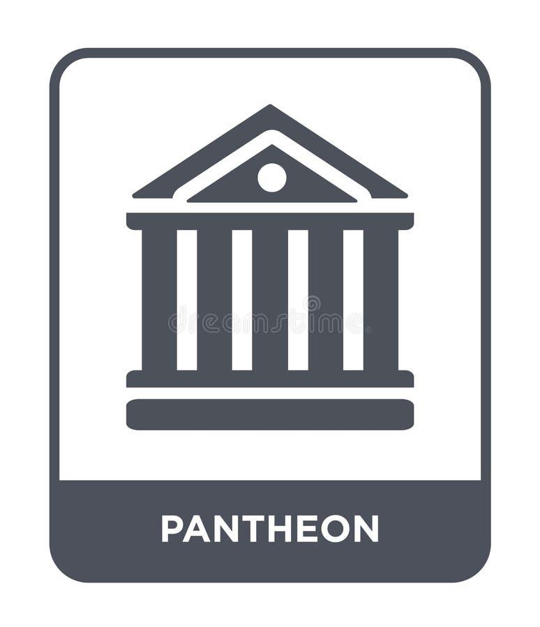pantheonpictogram in in ontwerpstijl pantheonpictogram op witte achtergrond wordt geïsoleerd die eenvoudige en moderne vlakte van royalty-vrije illustratie