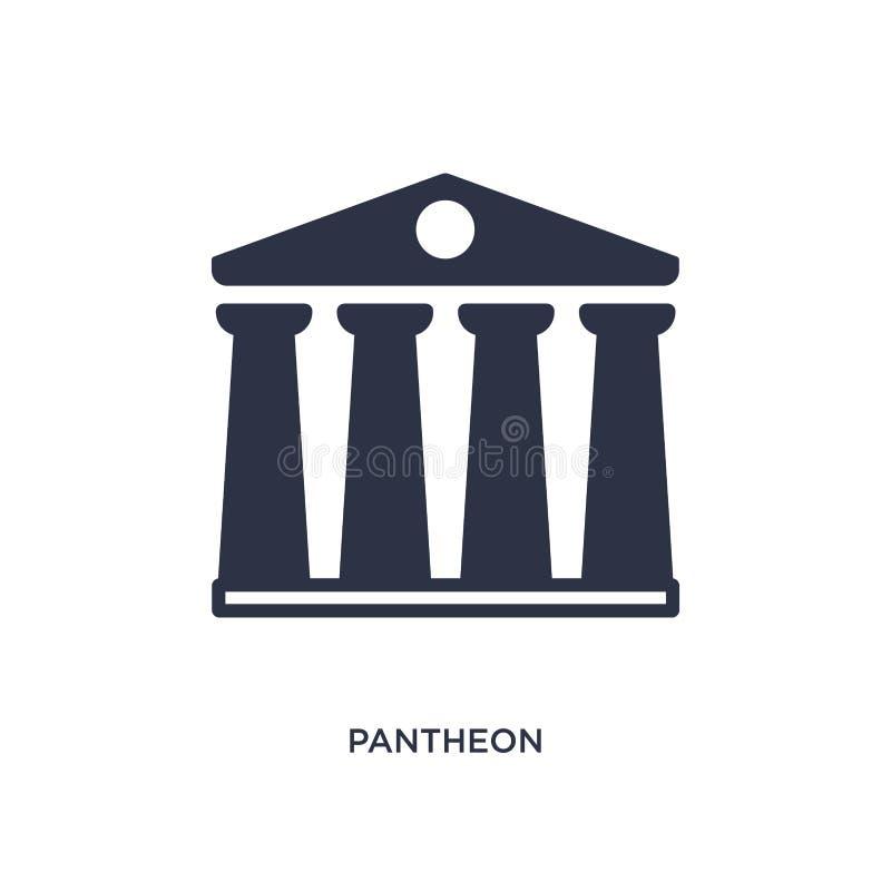 pantheonpictogram op witte achtergrond Eenvoudige elementenillustratie van geschiedenisconcept royalty-vrije illustratie
