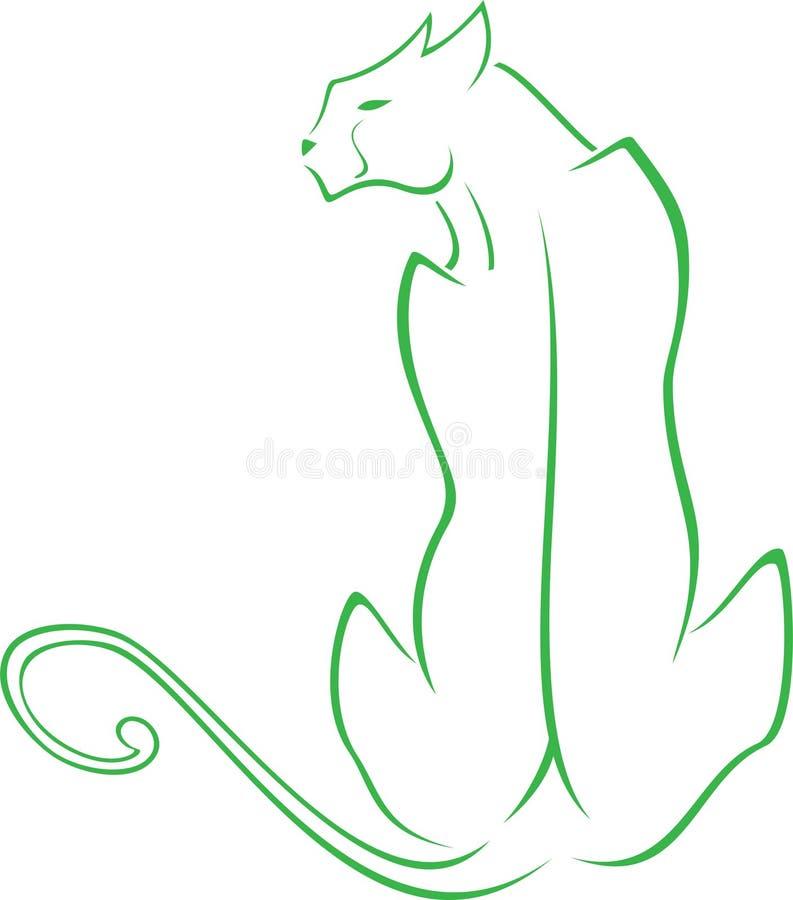Download Panther stock illustration. Illustration of tattoo, feline - 23518150
