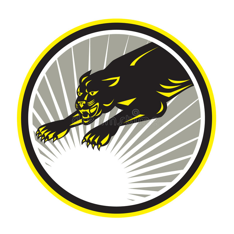 Black Jaguar Growl: Panther Big Cat Growling Stock Vector. Illustration Of