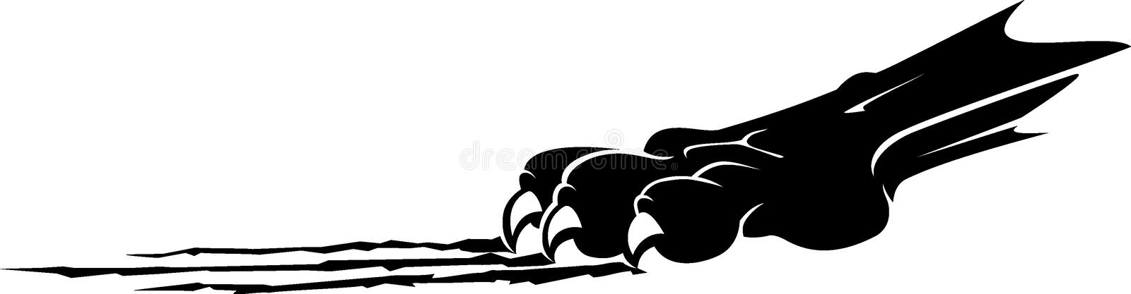 Panther Claw Side View silhouet vector illustratie