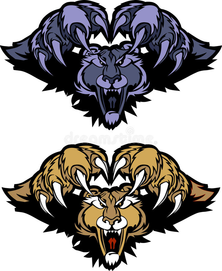 Download Panther Cougar Mascot Pouncing Vector Logo Stock Vector - Illustration of lions, icons: 16786012
