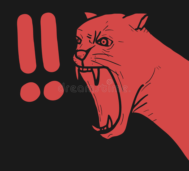 Download Panther hazard stock vector. Image of creative, doll - 28208223