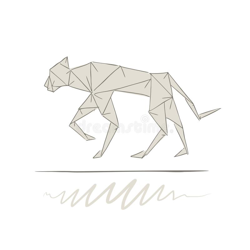 Trouva: Black Panther Origami Statue (2 colours) | 800x800