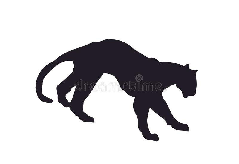 Panther silhouette, vector stock photo