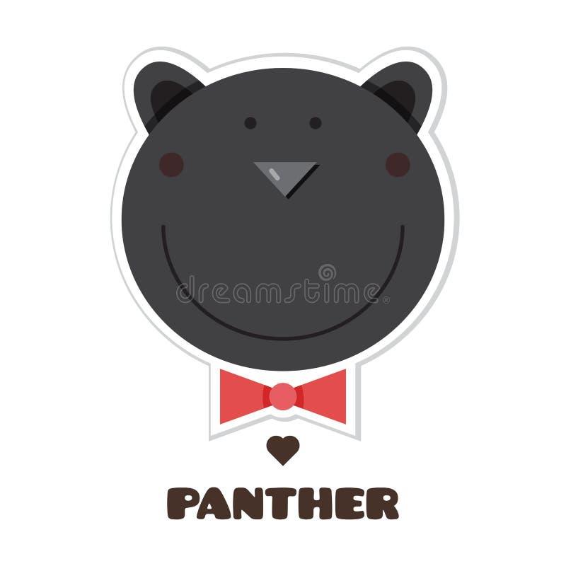 panther sticker Vector illustratie stock illustratie