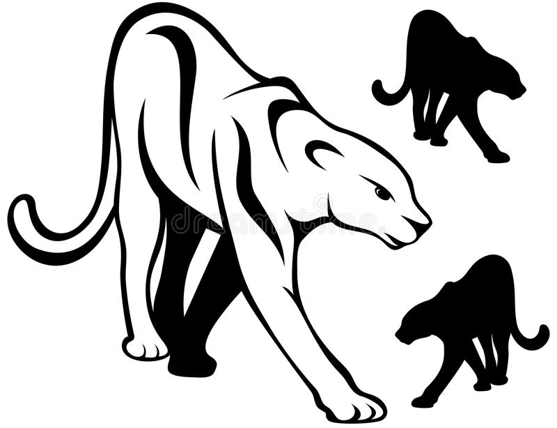 Download Panther vector stock vector. Image of monochrome, mammal - 20536386