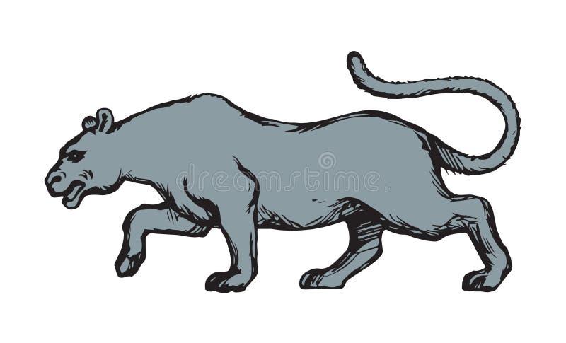 panther Vector tekening stock illustratie