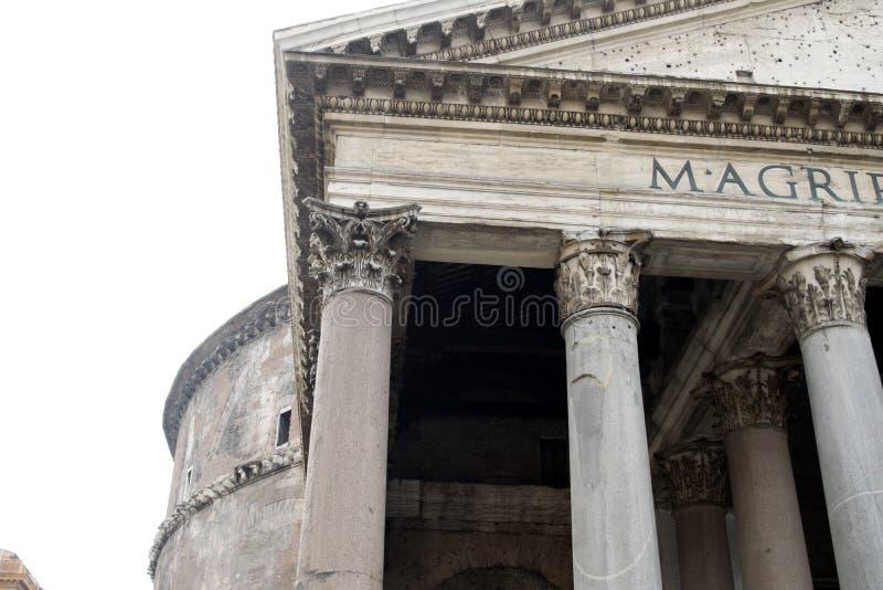 Panthon的细节在罗马 免版税库存图片