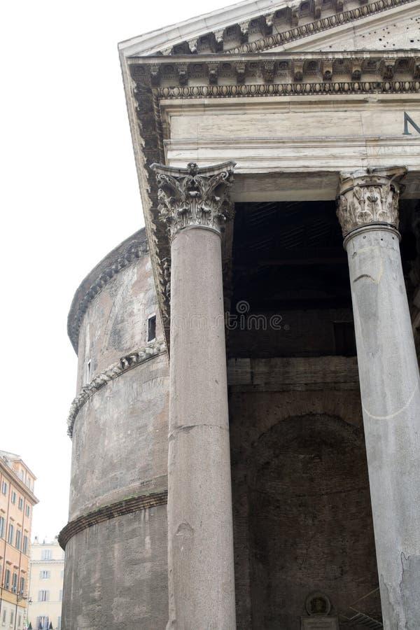 Panthon的细节在罗马 库存照片