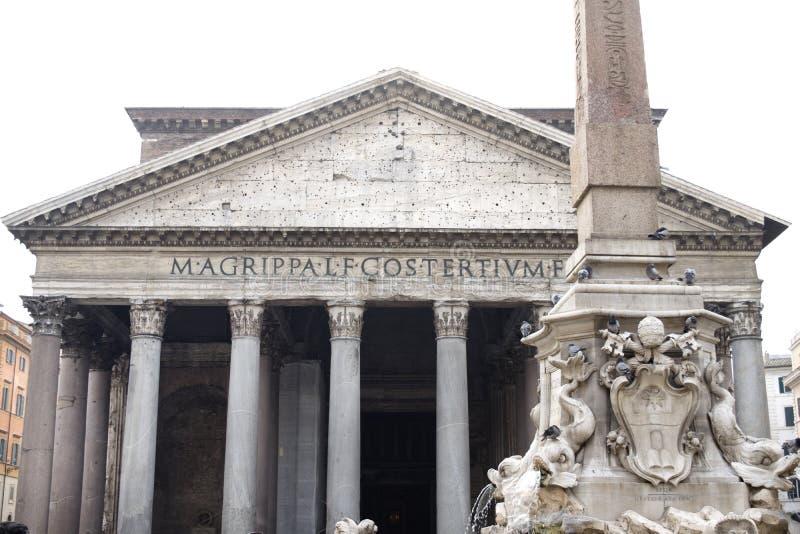 Panthon的细节在罗马 免版税库存照片