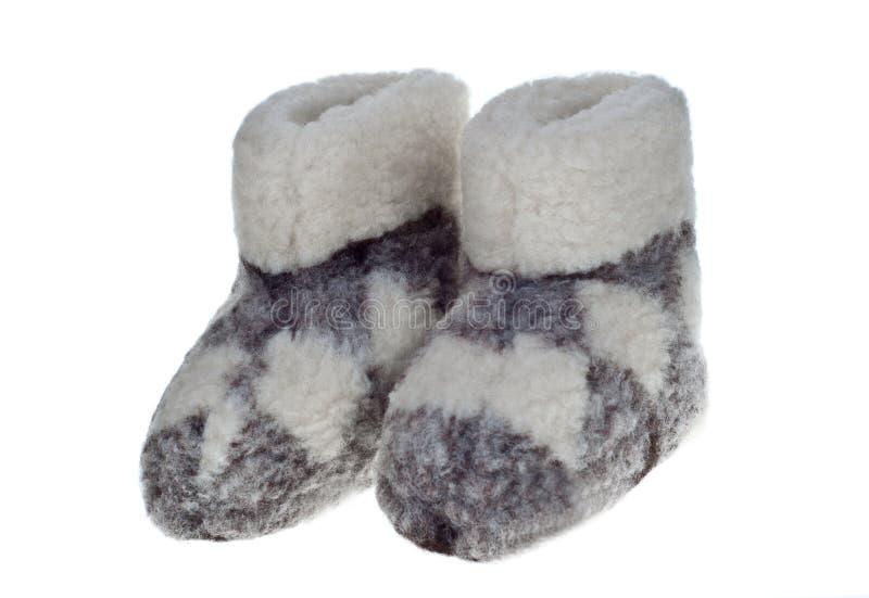 Pantofole della lana fotografie stock libere da diritti