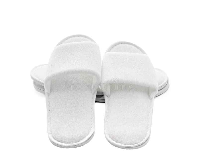 Pantofole domestiche casuali bianche fotografia stock libera da diritti