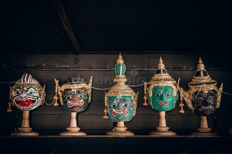 Pantomima tailandesa tradicional de la máscara del ` de Khon del ` de la epopeya de Ramayana foto de archivo