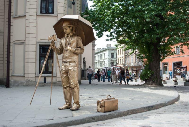 Pantomime dans la rue. image stock