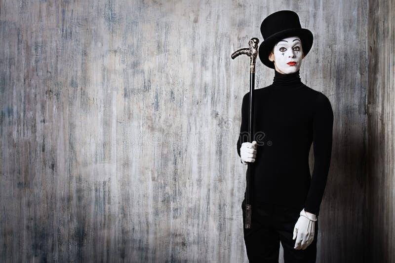 Pantomime et un bâton image stock