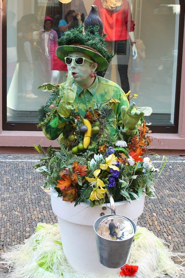 Free Pantomime Streetart At Freiburg, Breisgau, Black Forest Germany Royalty Free Stock Images - 108985149