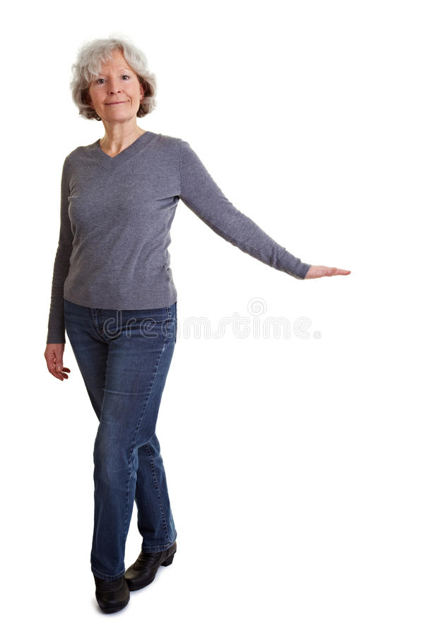 Pantomime woman stock photo