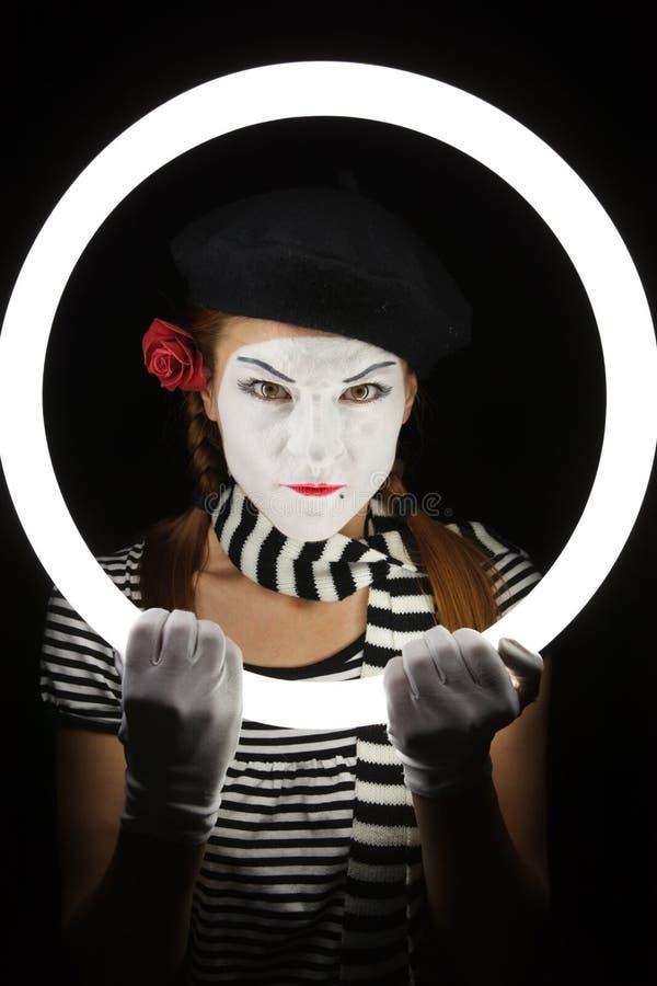 Pantomimeportrait. stockbilder