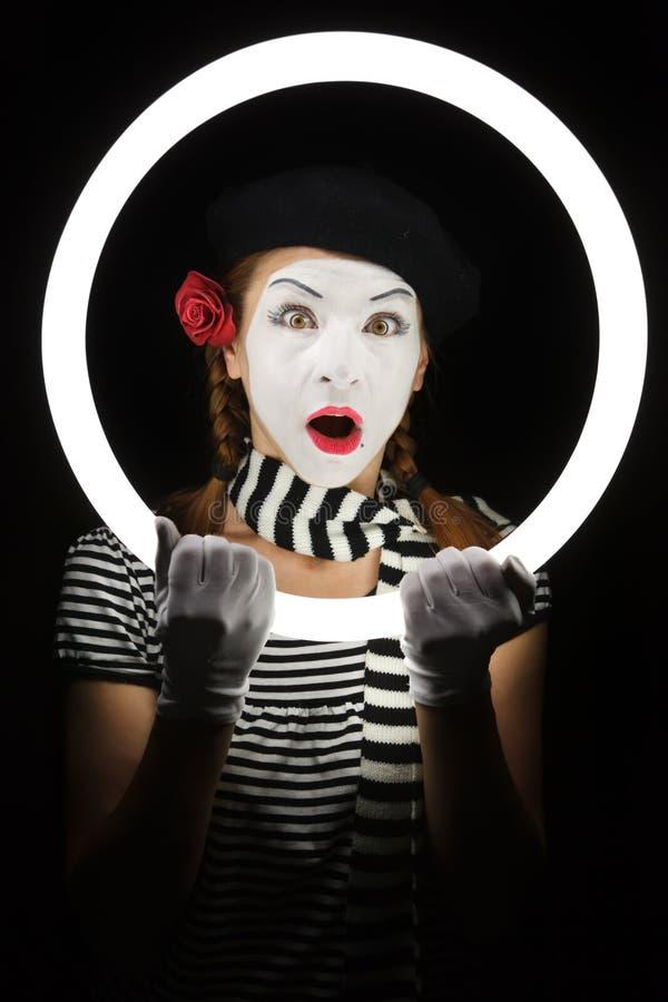 Pantomimeportrait. lizenzfreies stockfoto