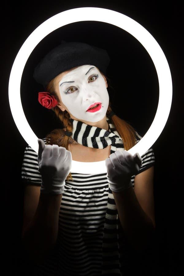 Pantomimeportrait. stockbild