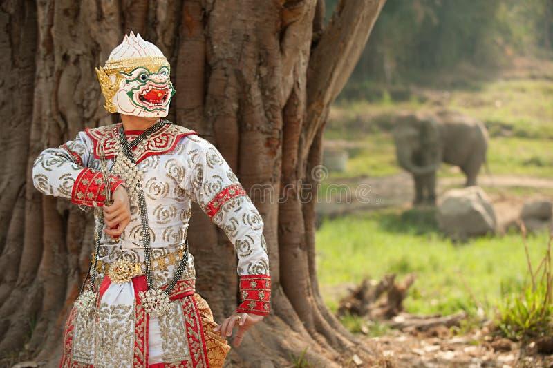 Pantomimeprestaties in Thailand royalty-vrije stock afbeeldingen
