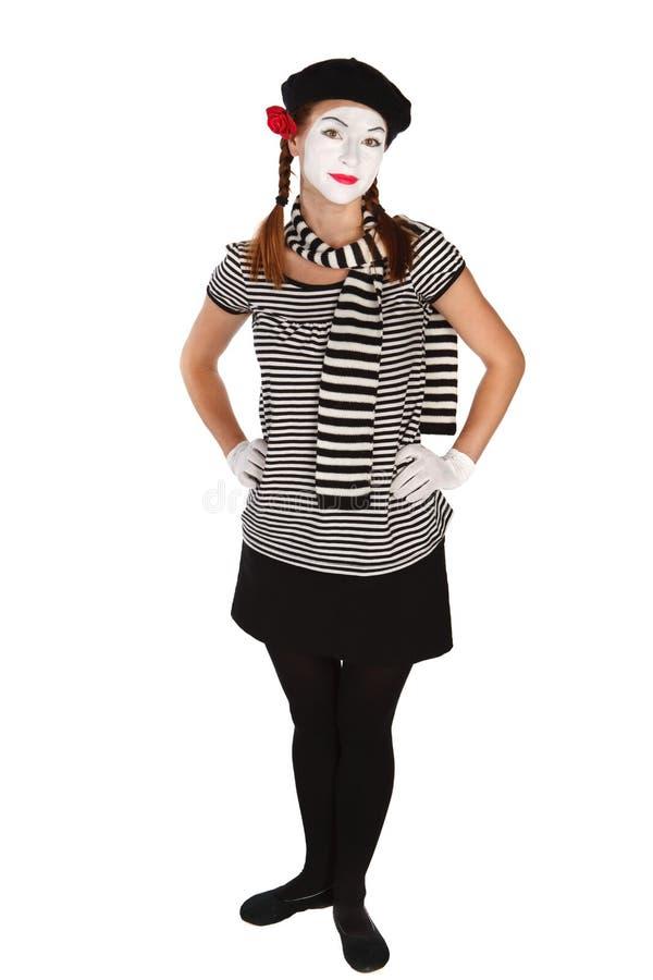 Pantomimeschauspieler stockfotos