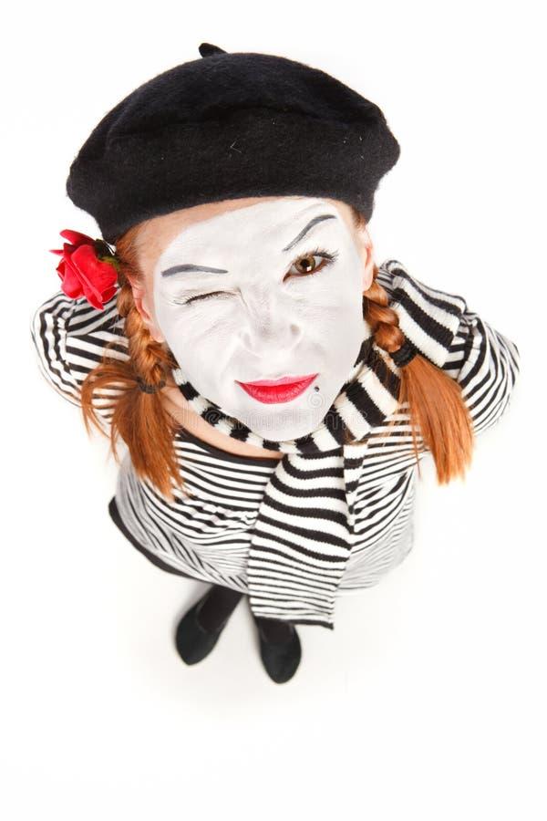 Pantomimeschauspielerportrait stockbilder
