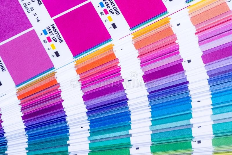 Pantone Beispielfarben stockfoto
