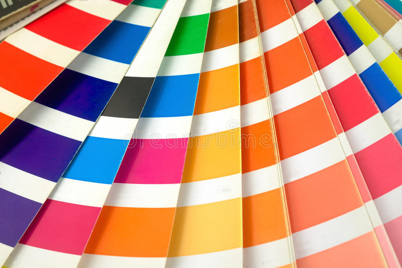 Pantone book color stock image. Image of guide, paint - 43976155