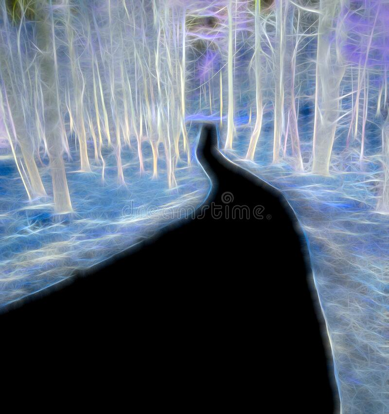 Free Pantone Classic Blue Abstract Of Trees With Black Path Stock Images - 177840934