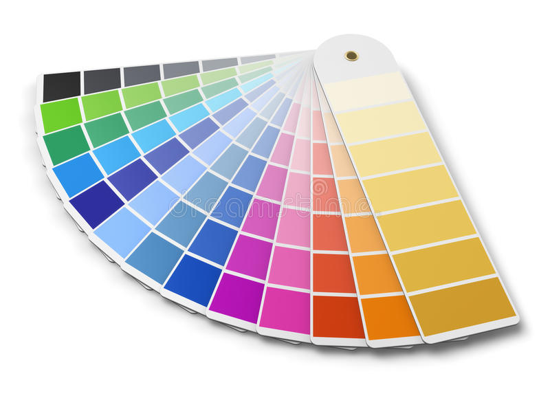 Pantone color palette guide. Isolated on white background vector illustration