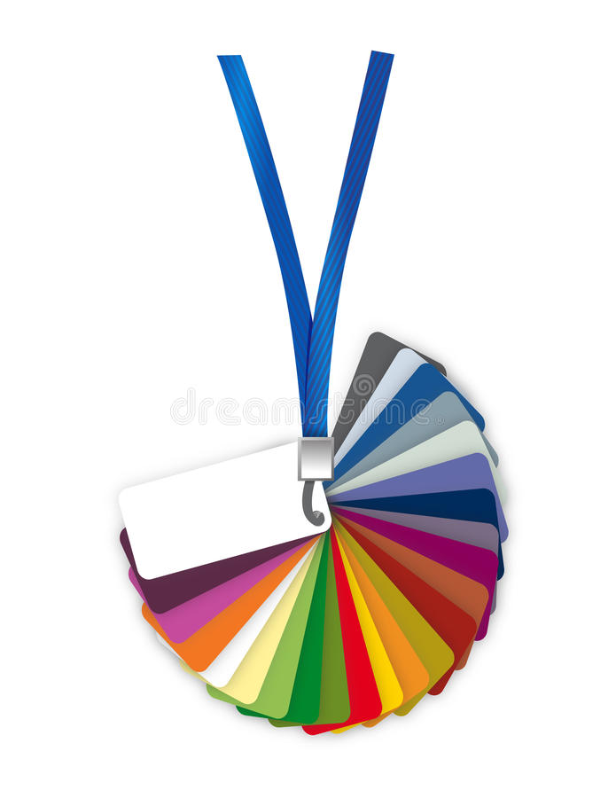 Pantone color palette guide. illustration vector illustration