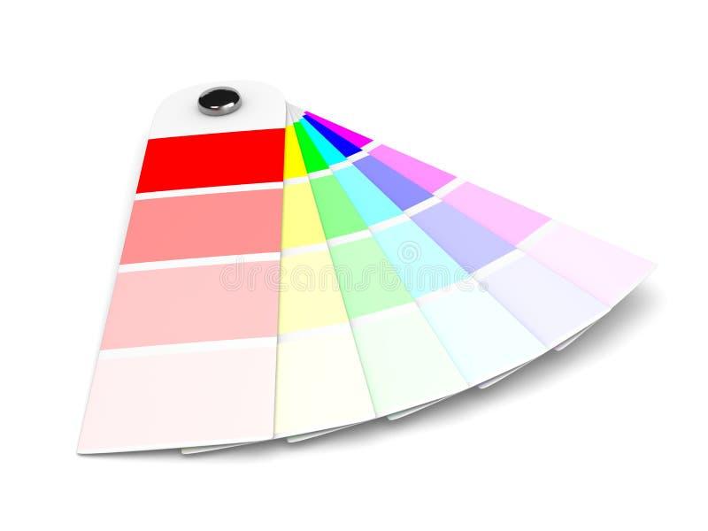 Pantone Colors Sampler stock illustration