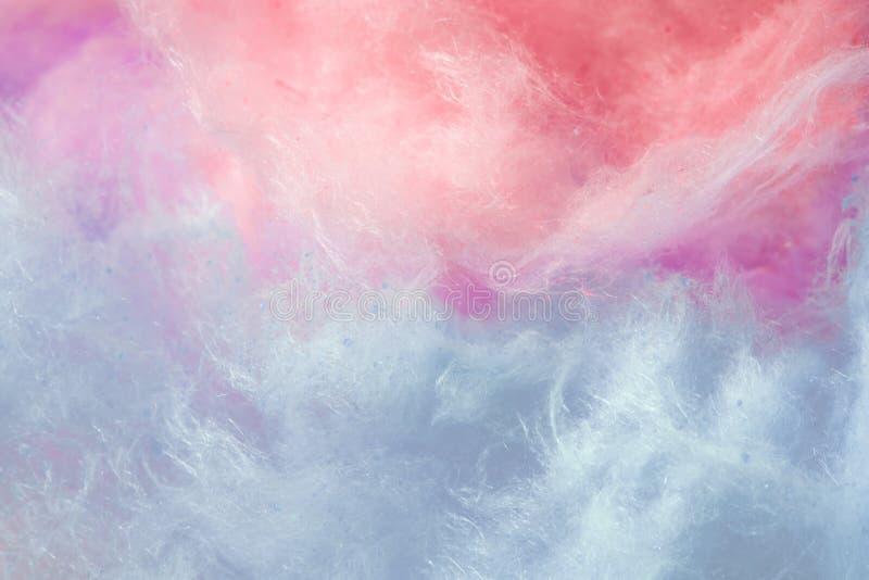 Pantone, cor da tendência do fundo do ano, o coral e o roxo, algodão doce fotografia de stock