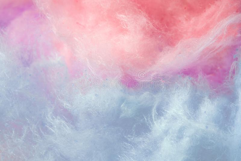 Pantone, couleur de tendance du fond d'année, de corail et pourpre, sucrerie de coton photographie stock