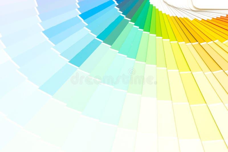 pantone do catálogo das cores da amostra imagem de stock