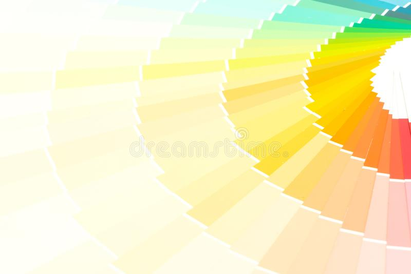pantone do catálogo das cores da amostra fotografia de stock