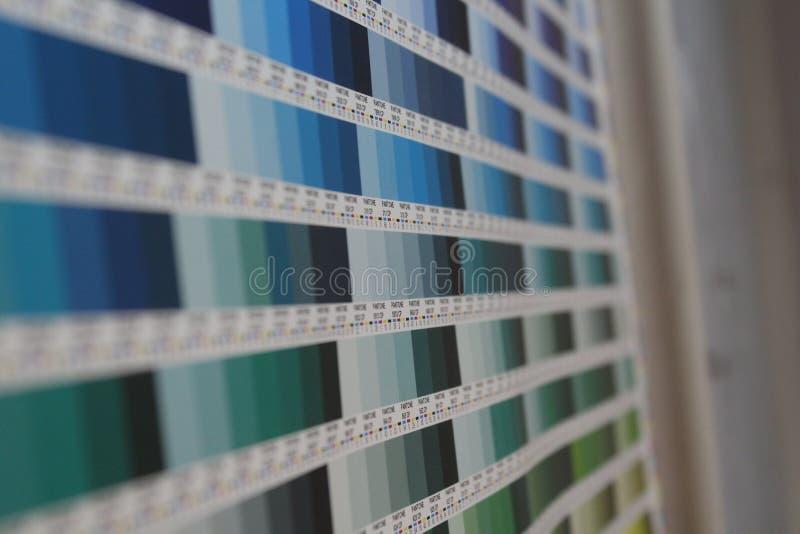 Pantone färgdiagram royaltyfria foton