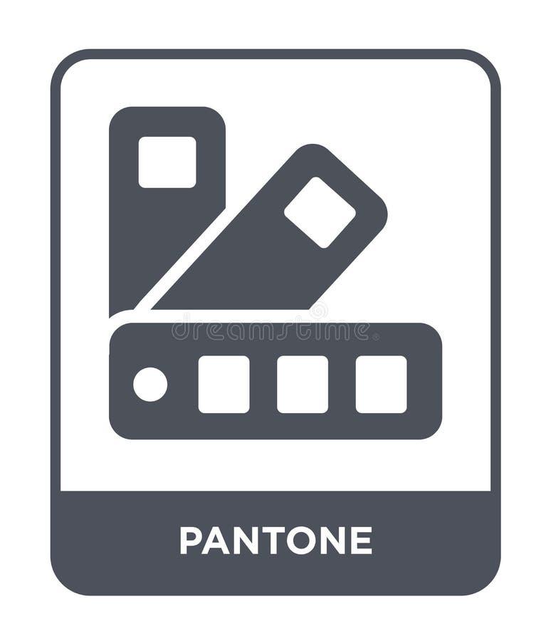 pantone ikona w modnym projekta stylu Pantone ikona odizolowywająca na białym tle pantone wektorowej ikony prosty i nowożytny pła ilustracja wektor