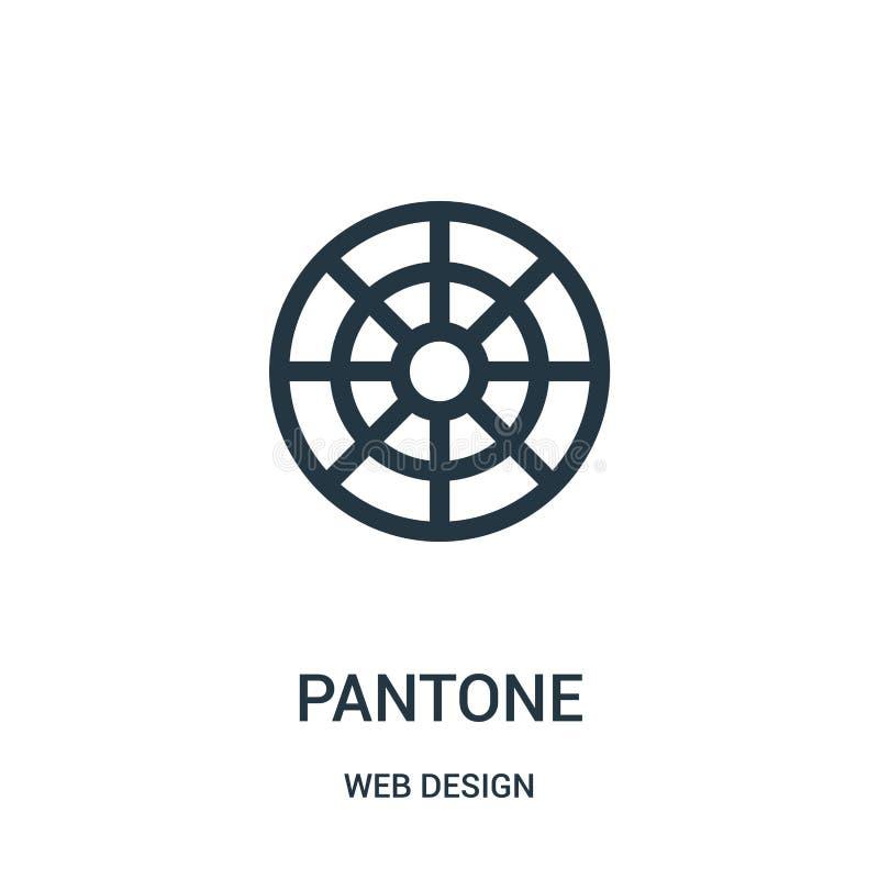 pantone ikony wektor od sieć projekta kolekcji Cienka kreskowa pantone konturu ikony wektoru ilustracja ilustracji