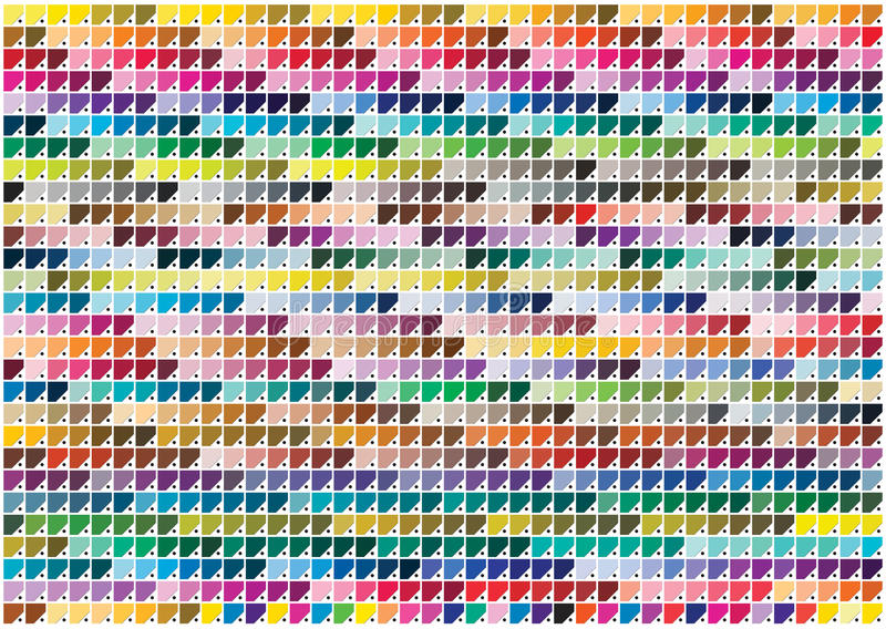 Pantone kolory royalty ilustracja