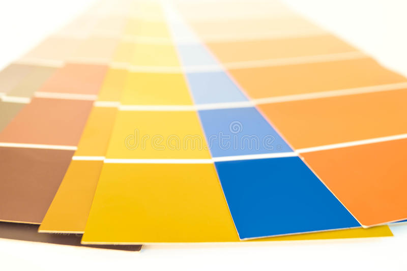 Pantone paletter royaltyfri fotografi