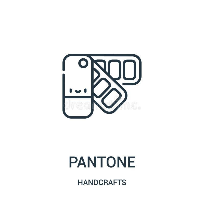 pantonesymbolsvektorn från handcrafts samlingen Tunn linje illustration för vektor för pantoneöversiktssymbol Linjärt symbol för  stock illustrationer