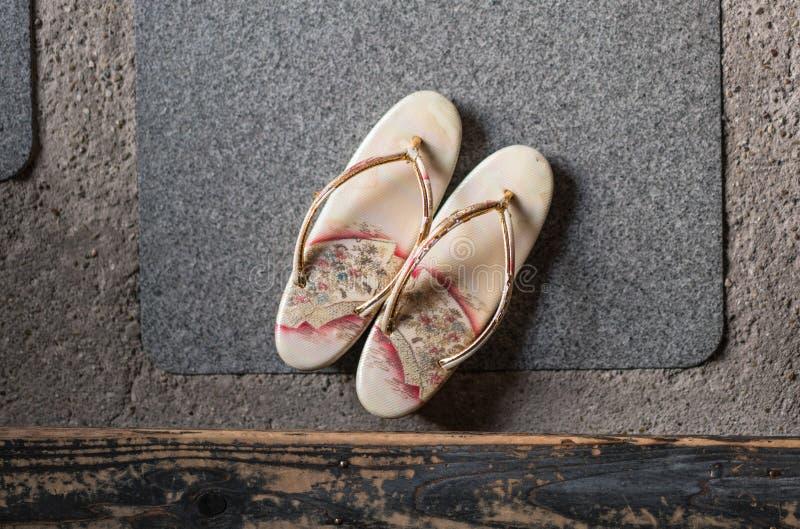 Pantoufles japonaises images stock