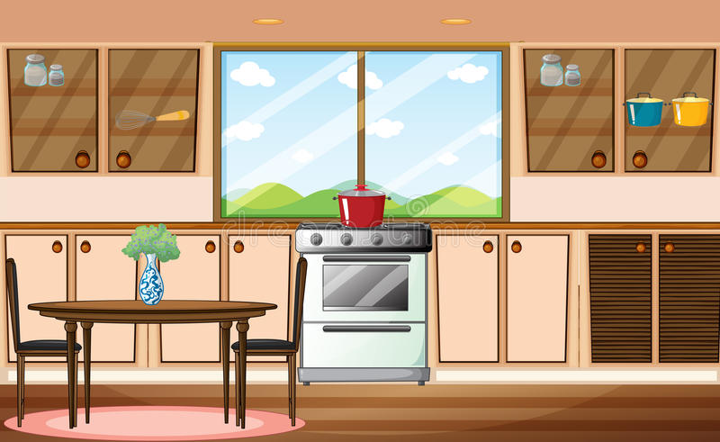 Pantry. Illustration of a classic pantry stock illustration