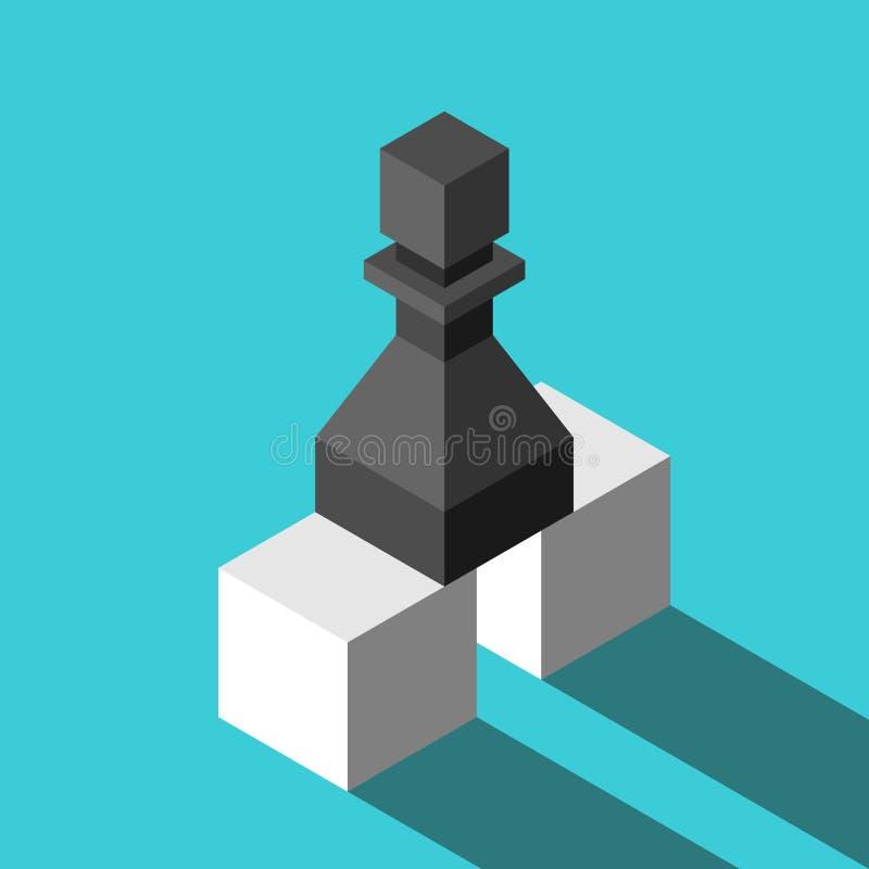 Pantsätta på två kuber stock illustrationer