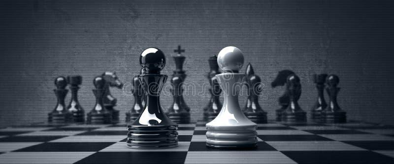 pantsätter det svarta schacket för bakgrund vs wihte arkivfoto